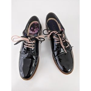 Ted Baker London Patent Leather Oxford Shoes UK3